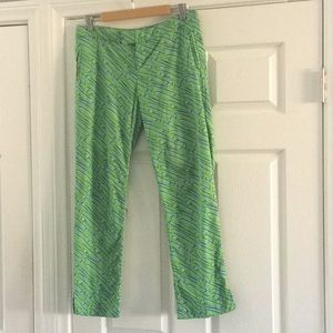 Lilly Pulitzer Elaine cutlass sword cropped pants